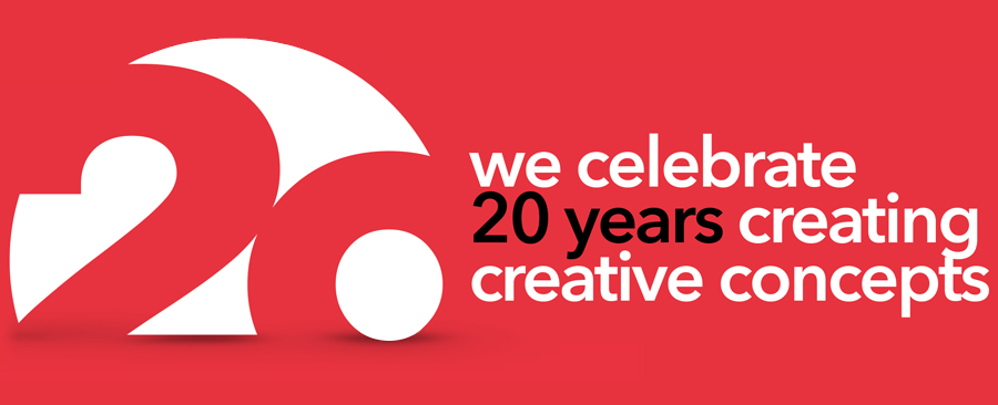 We celebrate 20 years creating creative concepts